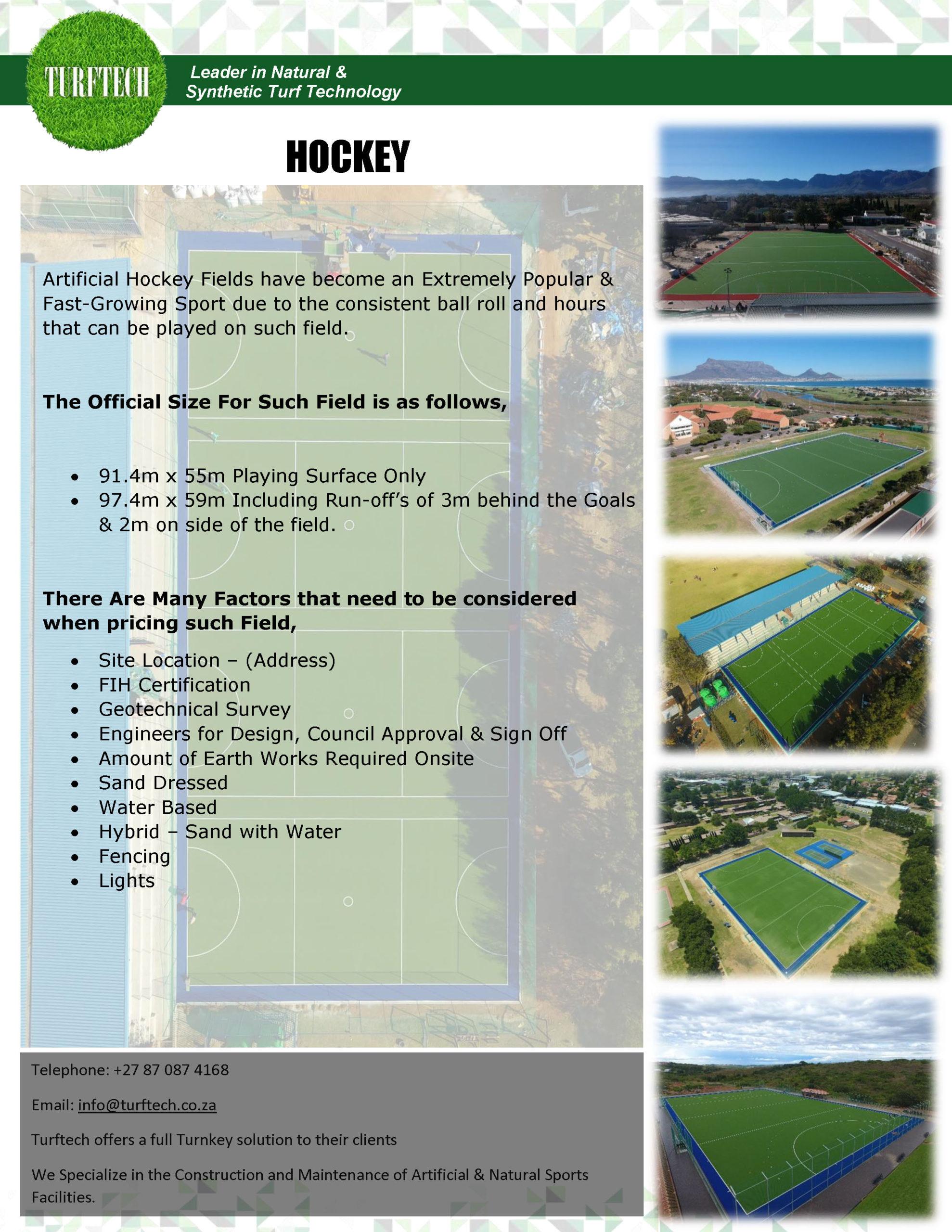 Basic Sports Field Information